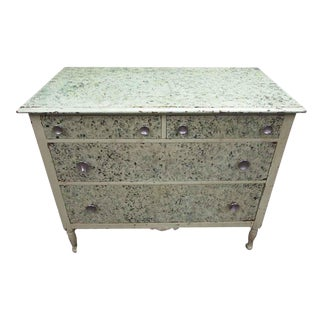 Shabby Chic Painted Chest of Drawers For Sale