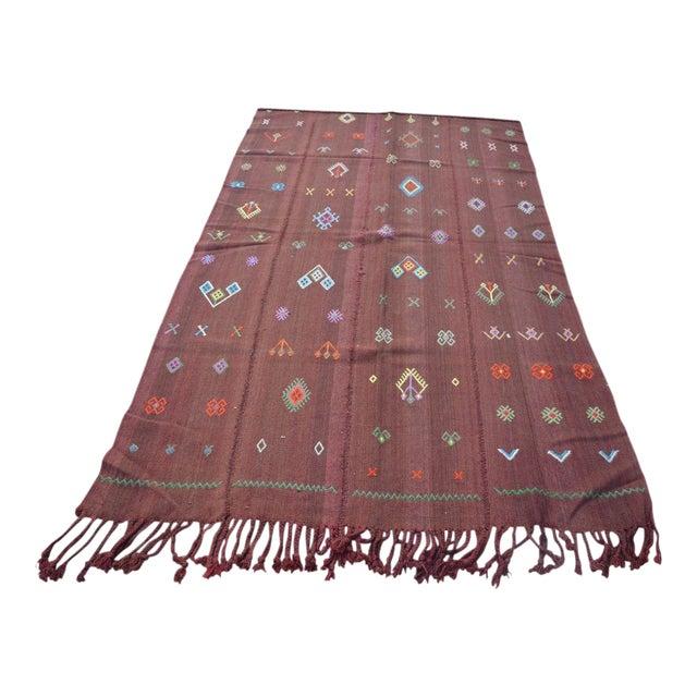 Nomadic Turkish Wool Bohemian Rug - 4′8″ × 7′8″ For Sale
