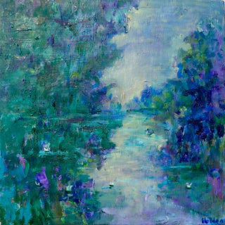 Impressionist River in France by Martha Holden For Sale
