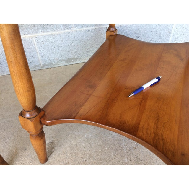 Cushman Colonial Maple End Tables - A Pair For Sale - Image 10 of 10