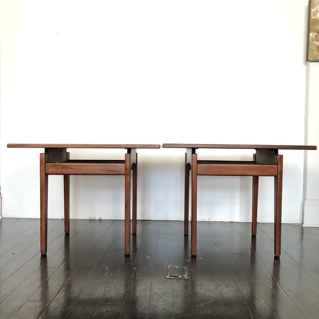 Jens Risom Walnut Side Tables - a Pair For Sale - Image 10 of 13