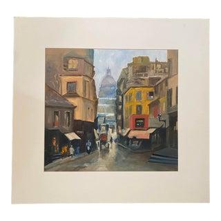 Original Oil Painting of the Montmartre Area, Paris For Sale