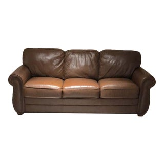 Palliser Leather Studded Sofa 2013 For Sale