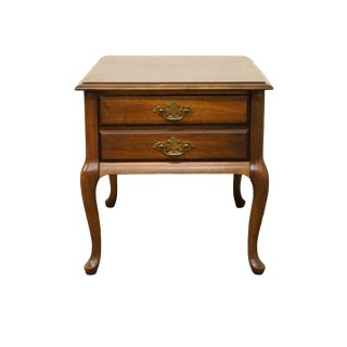 """Brandt English Fruitwood 20"""" End / Lamp Table For Sale"""