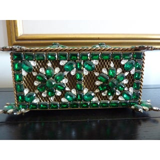 Vintage Green Swarovski Crystal Box Preview