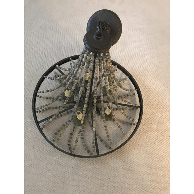 2010s Rustic French Country Beaded Chandelier For Sale - Image 5 of 7