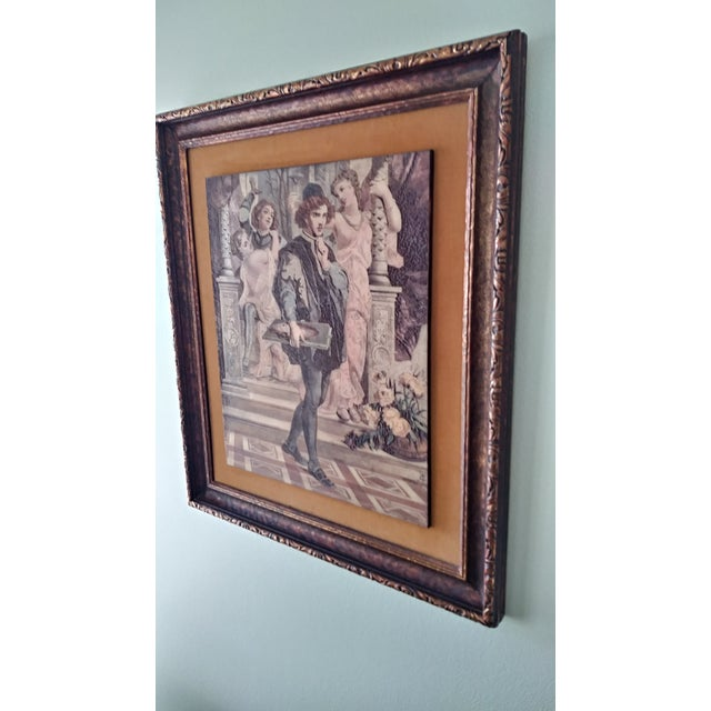 Vintage Artini Hand Painted Sculpture Engraved Wall Art For Sale In Detroit - Image 6 of 13