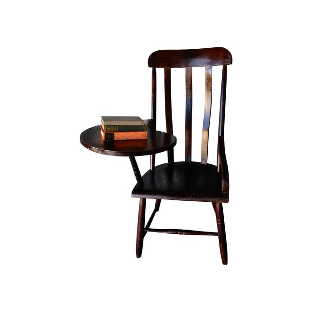 Early New England Windsor Writing Chair - Image 1 of 9