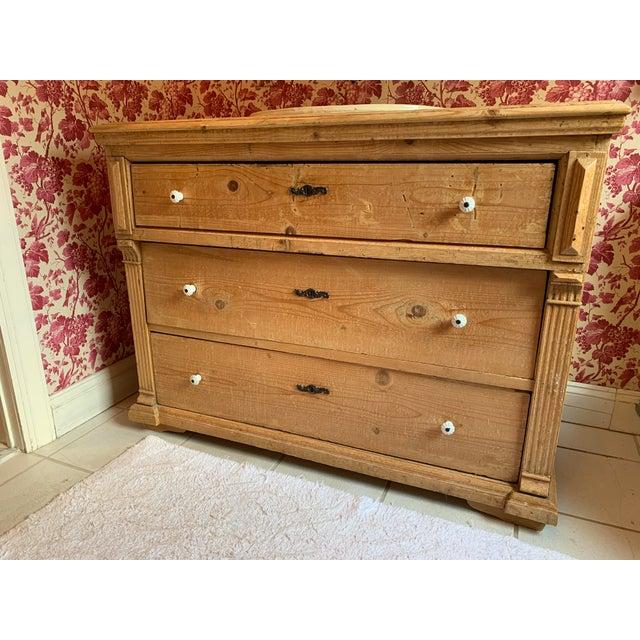 Wood Custom Pine 3-Drawer Bathroom Vanity With Talavera Sink For Sale - Image 7 of 13