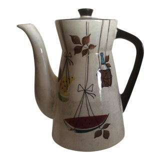 Mid Century Coffee Pot, Jamaica by Royal Sealy