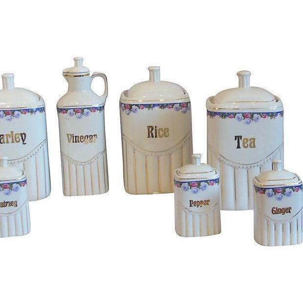 Vintage Porcelain Kitchen Canisters - Set of 12 - Image 8 of 8