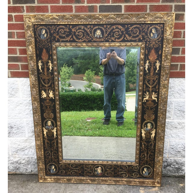 Large Classically Themed Wall Mirror - Image 2 of 5