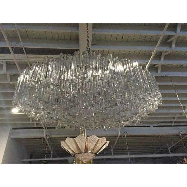 Venini Mid-Century Italian Murano Glass Chandelier For Sale In New York - Image 6 of 10