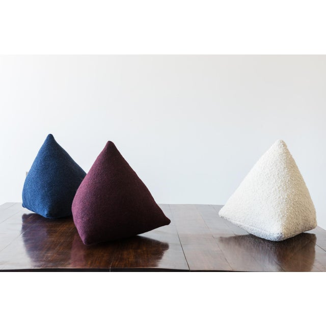 Architectural Pillows by Hunt Modern in Textural Wools - Image 7 of 10