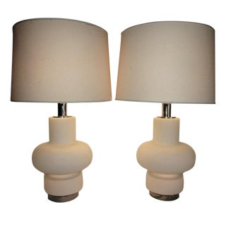 1970s Mid-Century Modern Bobo Piccoli for Laurel Table Lamps With No Shades- a Pair For Sale