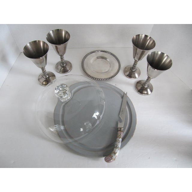 Silver-Plate Glasses/Coaster & Cheese Dome - 7 - Image 2 of 10