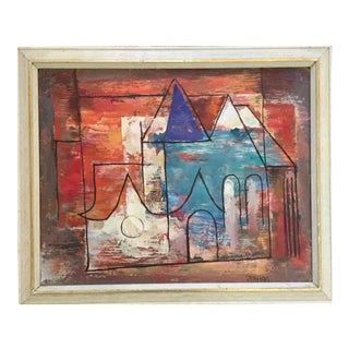 1940s Ellwood Graham Abstract Landscape Painting For Sale