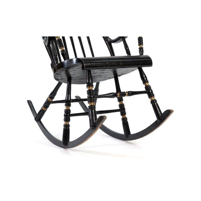 Metal 19th Century Vintage Swedish Gungstol Rocking Chair For Sale - Image 7 of 12
