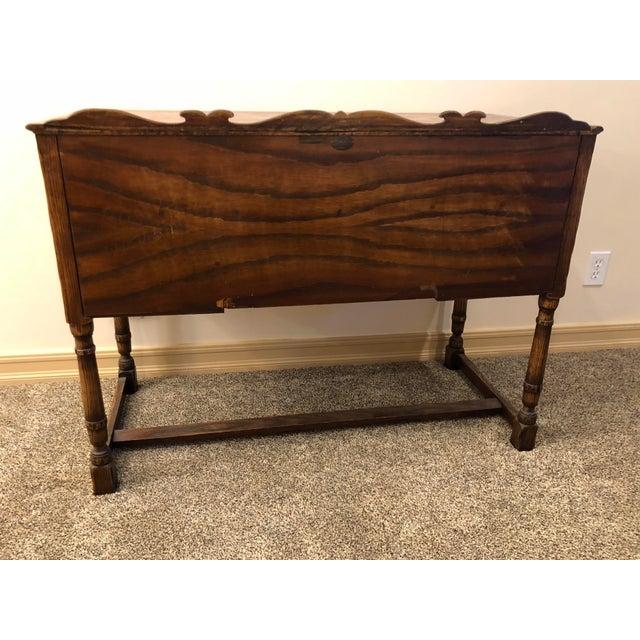 Glass Vintage Mid Century Jamestown Lounge Co. Feudal Oak Desk Set- 3 Pieces For Sale - Image 7 of 13