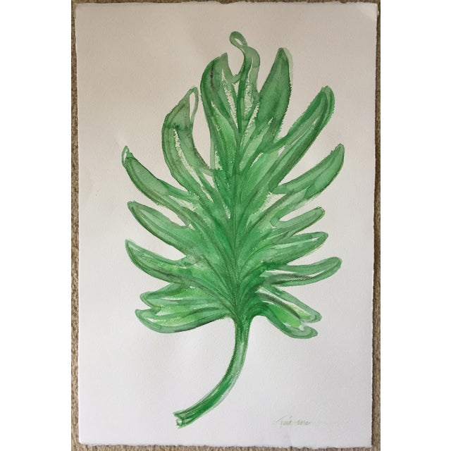 "Original Leaf Watercolor-15"" X 22""-Signed - Image 4 of 4"