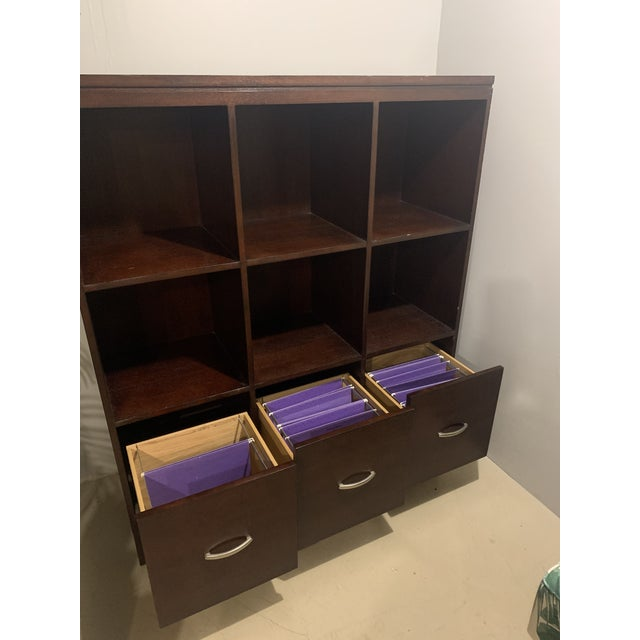 Modern Ethan Allen Cabinet with File Drawers For Sale - Image 3 of 6