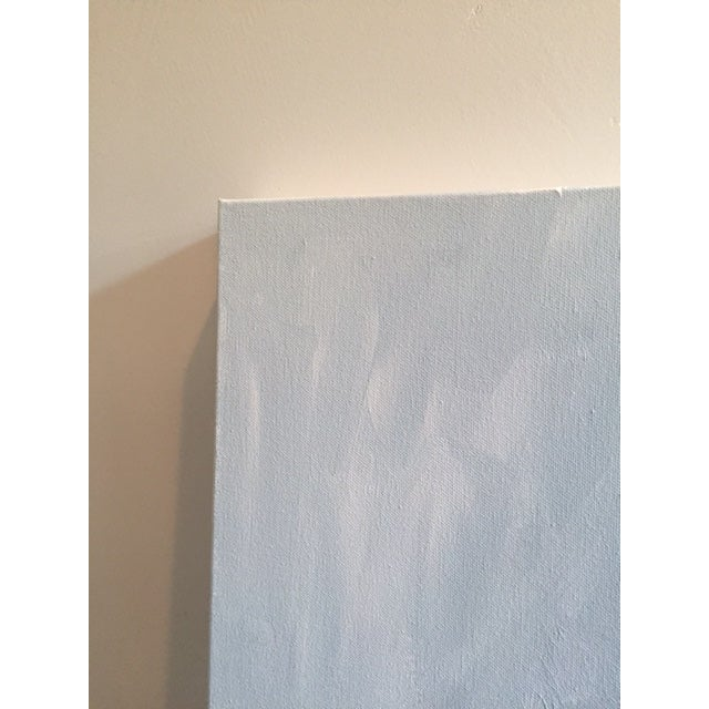 """""""Untitled #2"""", Gray Abstract Painting - Image 6 of 8"""