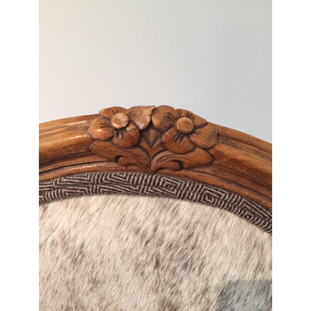 """French Hide Upholstered """"Hers"""" Bergere Chair For Sale In Chicago - Image 6 of 9"""
