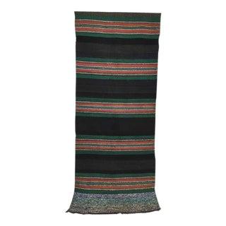 Large Antique Turkish Kilim Tribal Rug - 3′8″ × 9′7″ For Sale