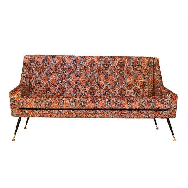 Textile Vintage Italian Sofa With Rubelli Upholstery For Sale - Image 7 of 10