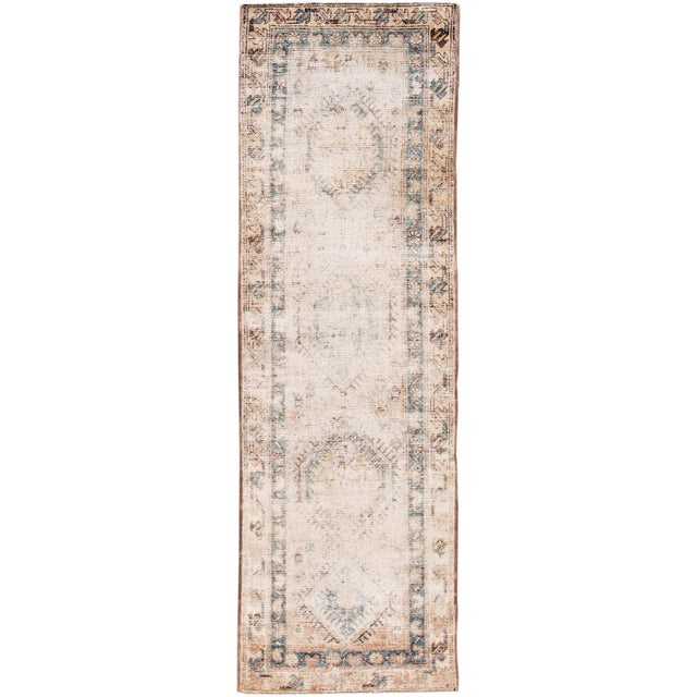 "Apadana-Antique Persian Distressed Rug, 3'1"" X 10'1"" For Sale - Image 9 of 9"