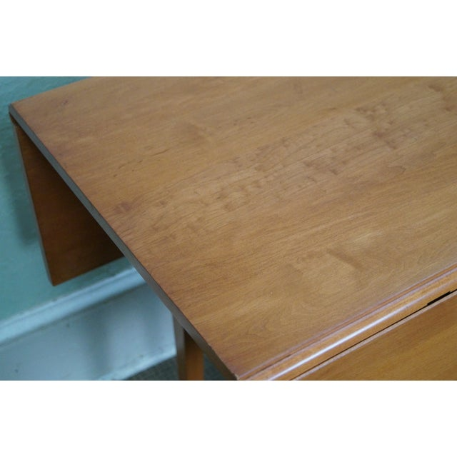 Maple Drop Leaf Harvest Dining Table - Image 5 of 10