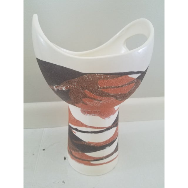 Market found, I love the modern shape of this Royal Haeger glazed pottery vase in wonderful earth tones. As seen in photo,...