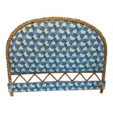 Image of Vintage Boho Chic Costal Wicker Woven Queen Headboard For Sale