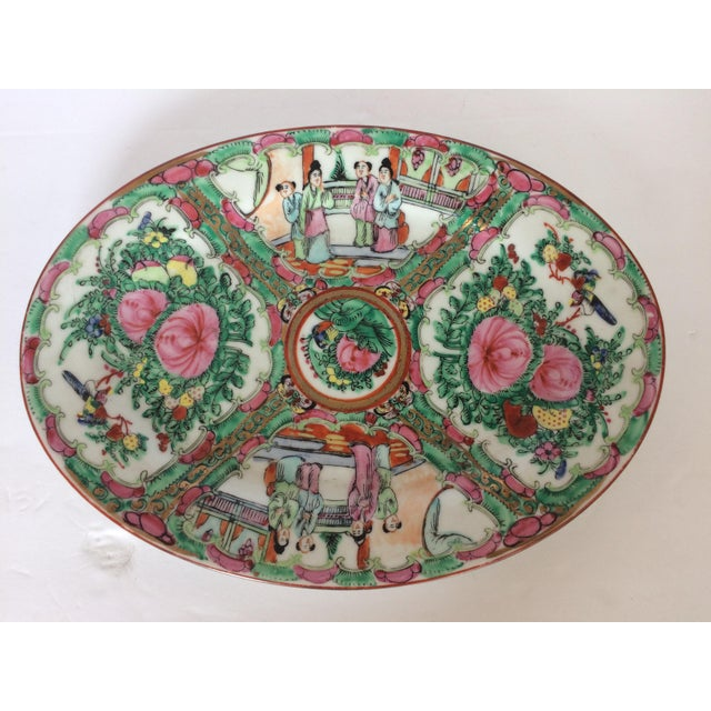 Rose Medallion Oval Serving Dish For Sale In West Palm - Image 6 of 6