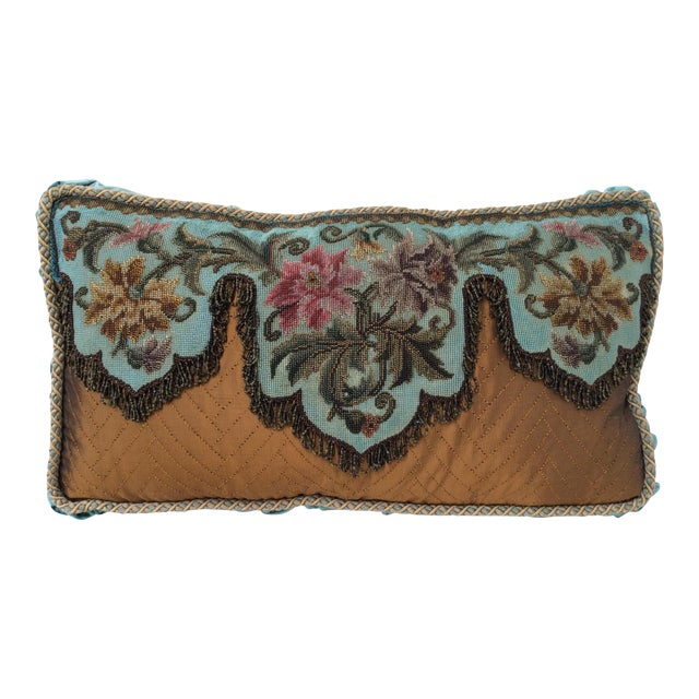 Antique Beadwork Textile Pillow For Sale