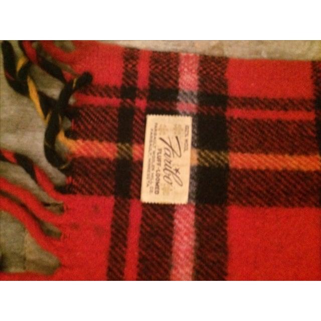 Red Plaid Faribo Wool Blanket - Image 6 of 6