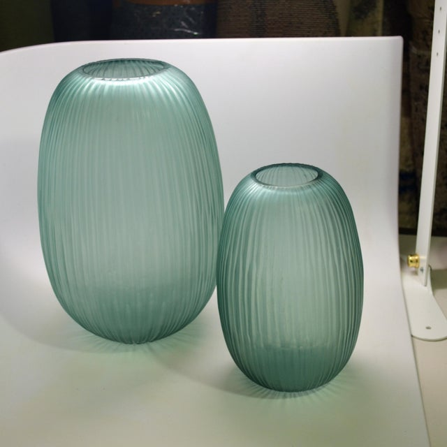 Bungalow 5 Small Gray Blue Moderni Vase For Sale In Las Vegas - Image 6 of 9
