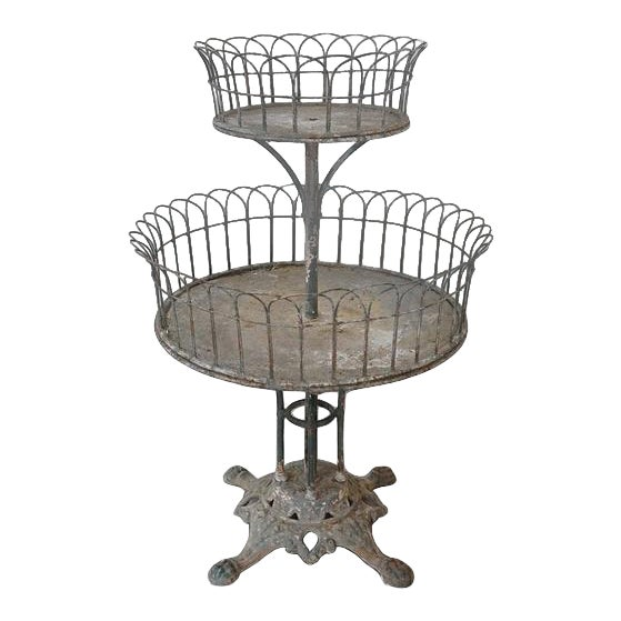 Two-Tiered Iron Planter For Sale