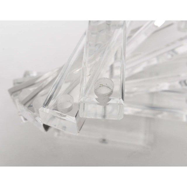 """Lucite """" Spiral Staircase"""" Sculptural 12 Light Candelabra For Sale In Miami - Image 6 of 11"""