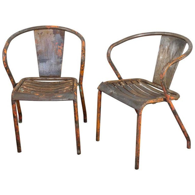 Pair of French Tolix Chairs With Original Paint Finish - Image 11 of 11