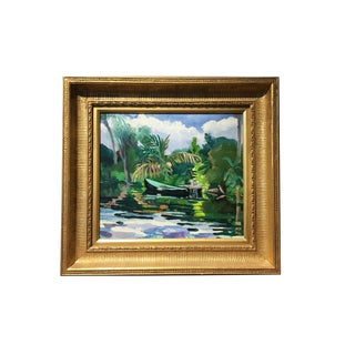Julia Kelly Tropical Landscape Painting For Sale