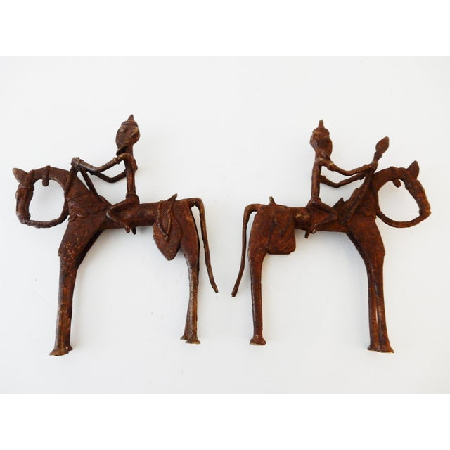 African Dogon Bronze Horseman Mali - Pair For Sale - Image 5 of 10