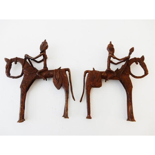 African Dogon Bronze Horseman Mali - Pair - Image 5 of 10