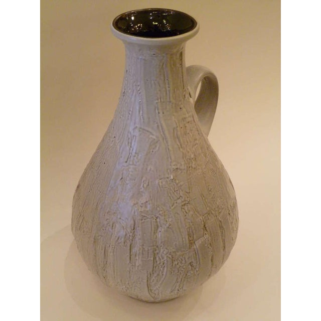 Large 50s Clemens & Huhn Textured German Pottery Mid Century Modern Krug Floor Vase - Image 2 of 9