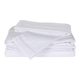 Matteo Sei White King Sheet Set - 4 Pieces For Sale