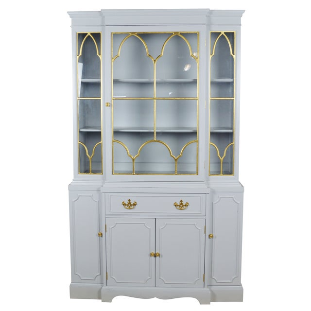 Fretwork Chippendale Breakfront - Image 1 of 5