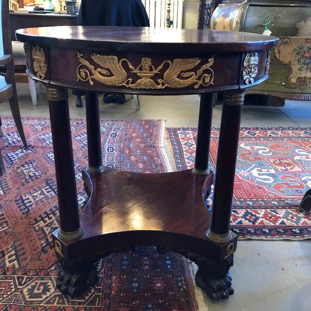 1800 French Round Gueridon Side Table With Bronze Ormolu Details For Sale - Image 13 of 13
