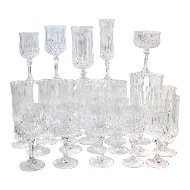 Cristal d'Arques Durand Longchamp 5 Pc. Place Setting - 6 Sets / 30 Total Pieces For Sale