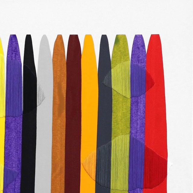 "Abstract ""Fils I Colors Cccxcii"" Original Artwork by Raul De La Torre For Sale - Image 3 of 9"