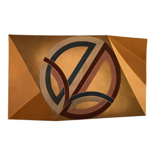 Frank Stella Styled, Modernist Panting on a Faceted Canvas For Sale